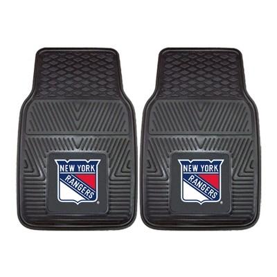 NHL New York Rangers Vinyl Car Mat Set - 2pc