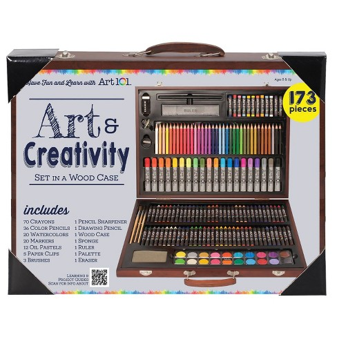 Art 101® Art & Creativity Set in Wooden Case 173pc - image 1 of 2