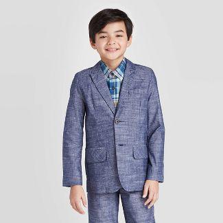 Boys' Chambray Suit Jacket - Cat & Jack™ Navy 5