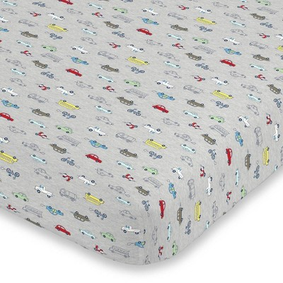 Carter's Busy Cars and Bikes Super Soft Fitted Crib Sheet