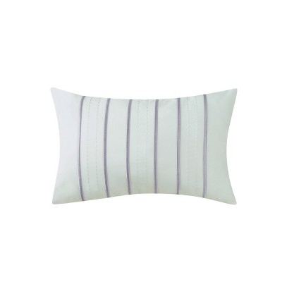 14x22 Essex Embroidered Throw Pillow Sage/Lavender - Charisma