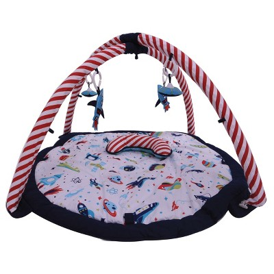 Bacati - Baby Activity Gyms & Playmats (Airspace Aqua/Red/Orange/Green/Navy)