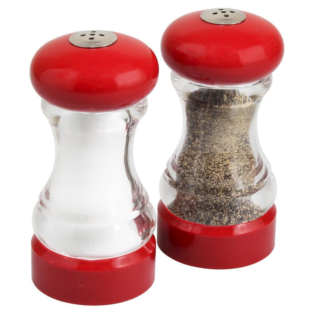 Image of Olde Thompson Monterey Shaker Set - Red and Clear