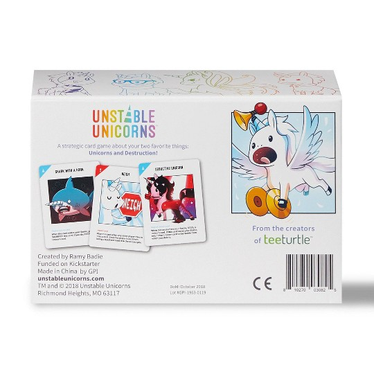 Unstable Unicorns Card Game, Adult Unisex image number null