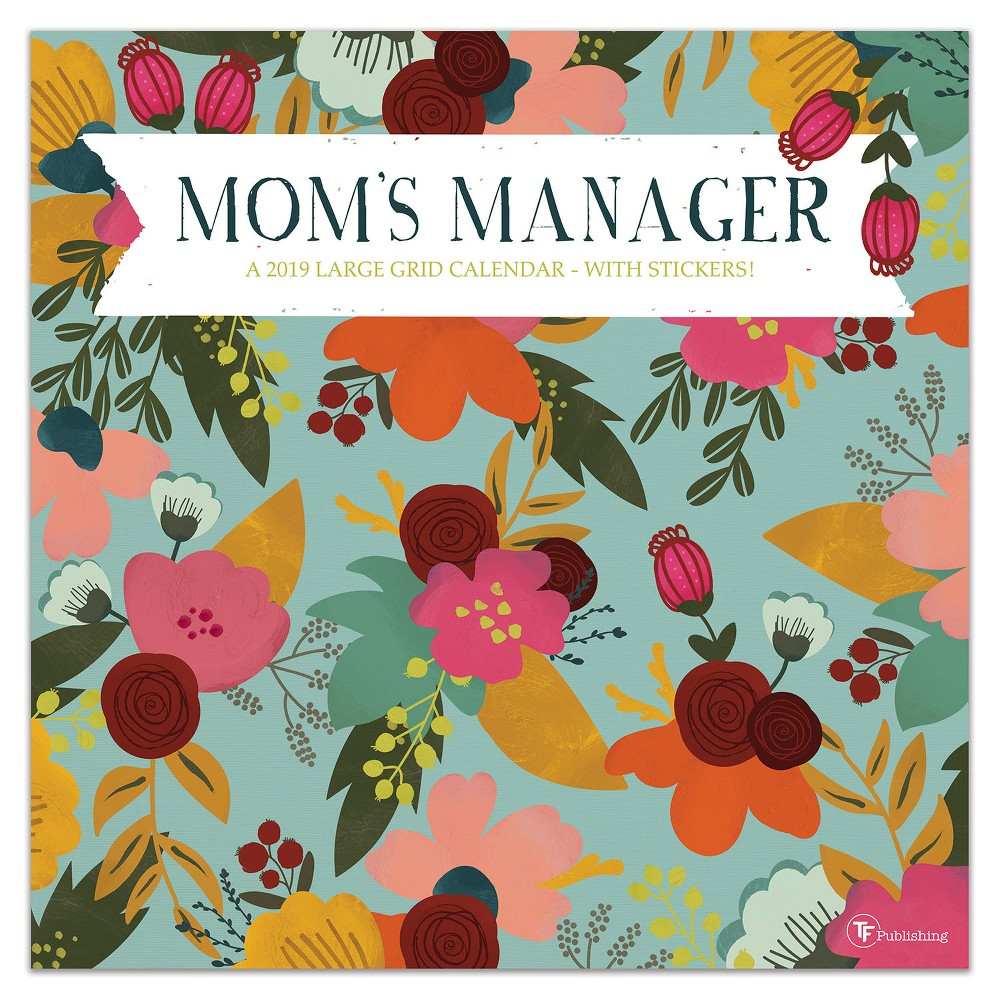 2019 Wall Calendar Floral Mom's Manager - TF Publishing, 2019 Tf Publishing Mom's Manager Wall Calendar