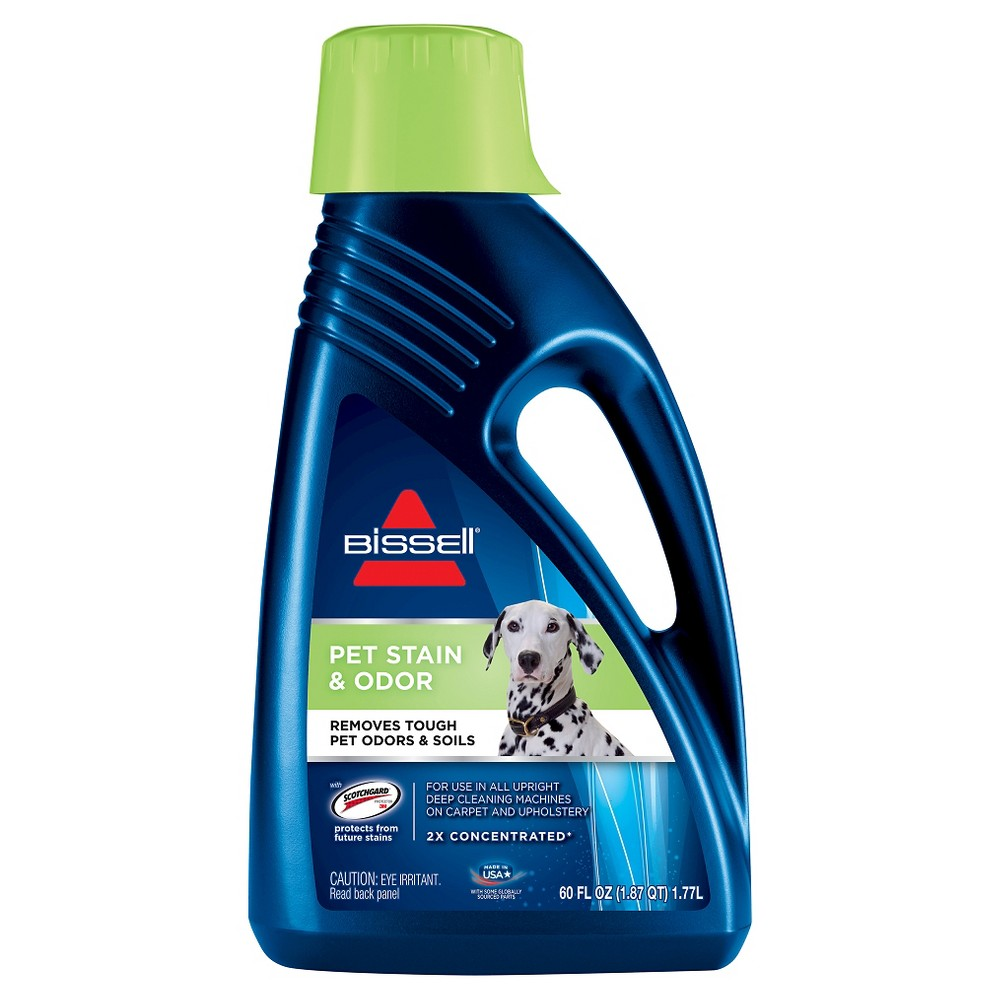 Image of Bissell 2X Pet Stain & Odor 60oz. Upright Carpet Cleaner Formula - 99K52, Blue