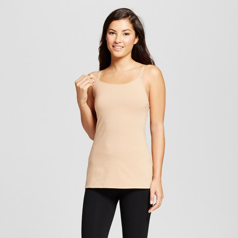 41ae7a0fa0 Women s Nursing Cotton Cami - Gilligan   O Malley™ - Honey Beige M   Target