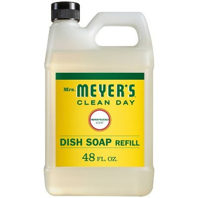 Mrs. Meyer's Clean Day Honeysuckle Scent Dish Soap Refill - 48 fl oz