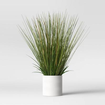 "25"" x 15"" Artificial Onion Grass Arrangement in Ceramic Pot - Project 62™"