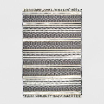 7' x 10' Global Stripe Outdoor Rug Neutral - Threshold™