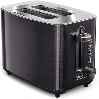 Crux 2 Slice Toaster Black SS
