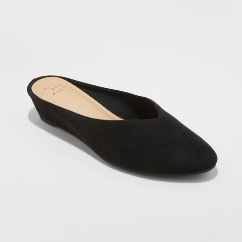 fcb612d2a4eb7 Women's Vanessa Wedge Backless Mules - A New Day™ Black 7.5 : Target