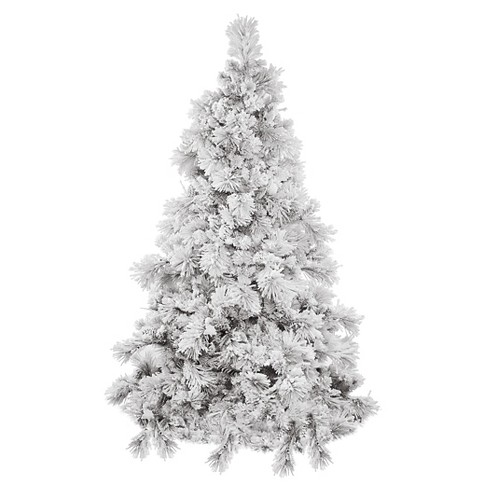 3.5ft Unlit Slim White Flocked Pine Artificial Christmas Tree - image 1 of 1