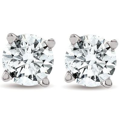 Pompeii3 1/2CT Diamond Studs 14K White Gold