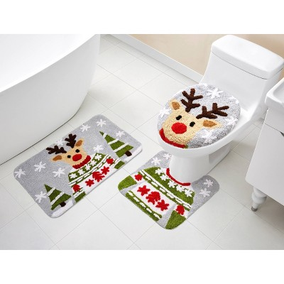 3pc Holiday Bath Rug Set - VCNY