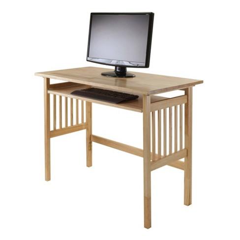 Folding Computer Desk Natural Winsome Target