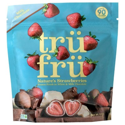 Tru Fru White and Milk Chocolate Frozen Strawberries - 8oz