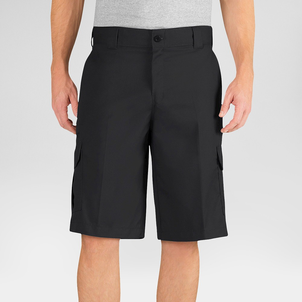 Dickies Men's Relaxed Fit Flex Twill 13 Cargo Shorts- Black 30