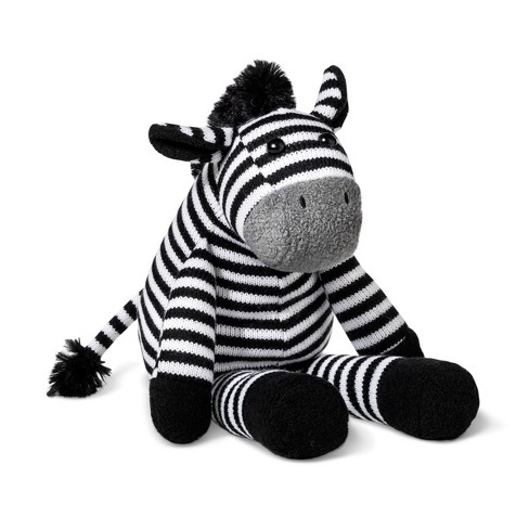 Plush Zebra - Cloud Island™ Black/White - image 1 of 1