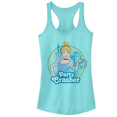 Junior's Cinderella Party Crasher Racerback Tank Top