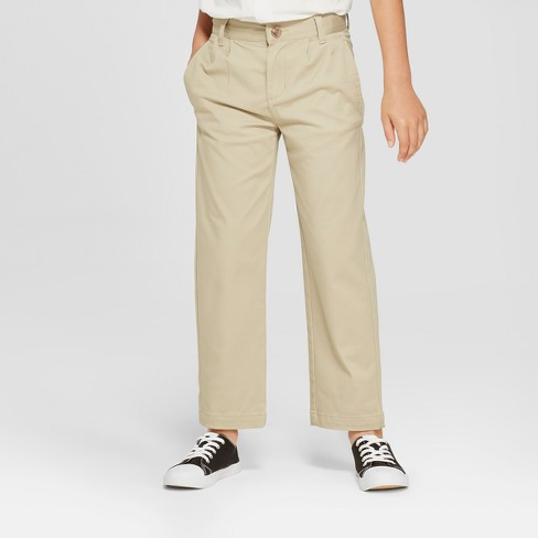 Boys' Pleated Uniform Chino Pants - Cat & Jack™ - image 1 of 3