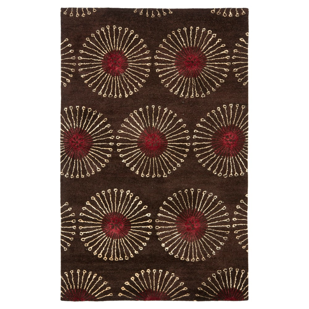 Coffee/Brown Botanical Tufted Area Rug - (6'x9') - Safavieh, Brown/Brown