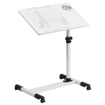 Adjustable Height Steel Mobile Computer Desk - Flash Furniture