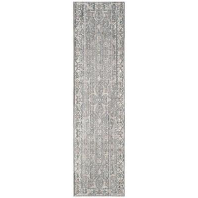 2'3 X12' Floral Loomed Runner Rug Mauve/Cream - Safavieh