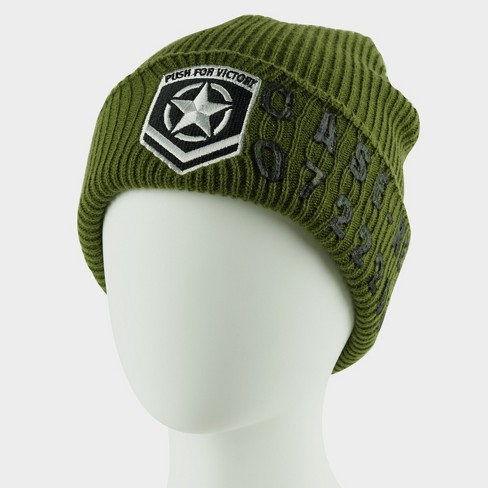 Call Of Duty WWII Knit Hat - Military Star Green   Target a68b795e88f