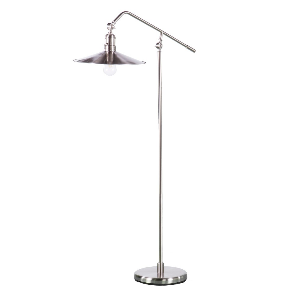 Image of Angus Floor Lamp Brushed Nickel (Includes Energy Efficient Light Bulb) - Aiden Lane