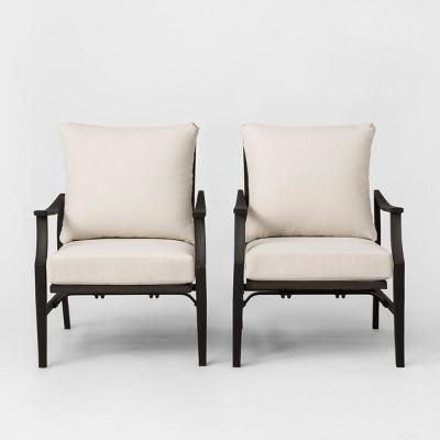 Fairmont 2pk Patio Motion Club Chair Linen - Threshold™