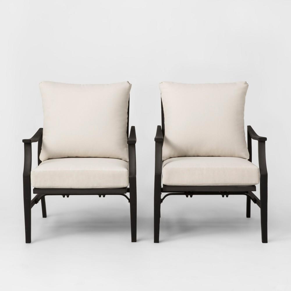 Fairmont 2pk Patio Motion Club Chair Linen - Threshold
