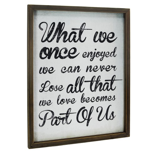 """All We Love Wall Dcor White (19""""x24"""") - VIP Home & Garden - image 1 of 1"""