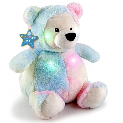 "FAO Schwarz Glow Brights Toy Plush LED with Sound Bear 12"" Stuffed Animal"