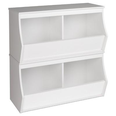 Fremont Entryway Storage Cubbie - 4 Bin - White - Prepac