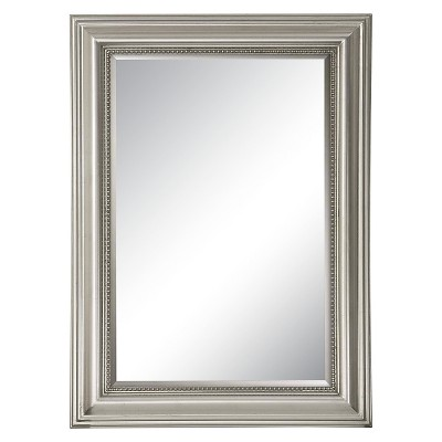 Rectangle Stuart Beaded Decorative Wall Mirror Silver - Uttermost
