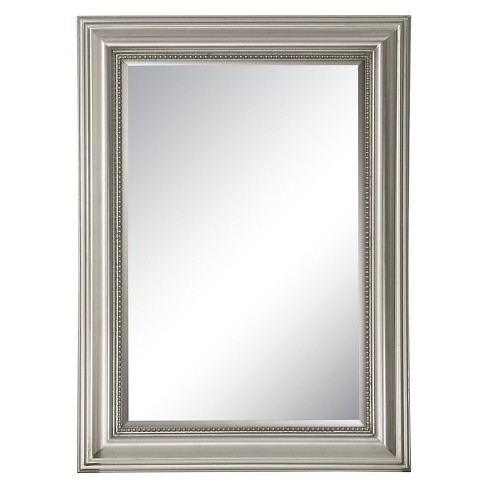 Rectangle Stuart Beaded Decorative Wall Mirror Silver Uttermost Target