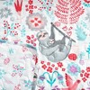 "50""x60"" Hygge Sloth Throw Blanket White - Lush Dcor - image 2 of 4"