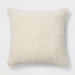 Faux Sheepskin Throw Pillow - Threshold™