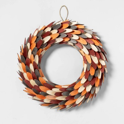 Harvest Wood Slice Decorative Wreath - Spritz™