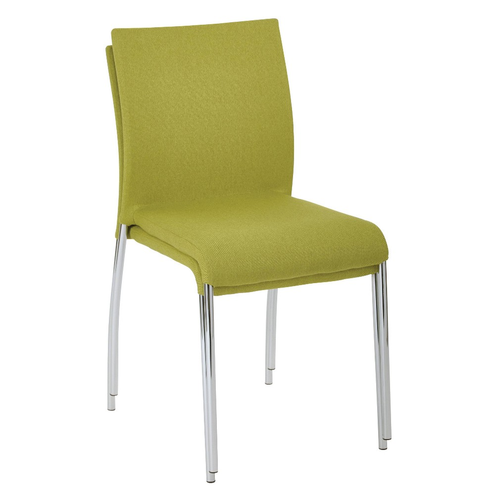 Image of 2pk Conway Stacking Chair Green - OSP Home Furnishings
