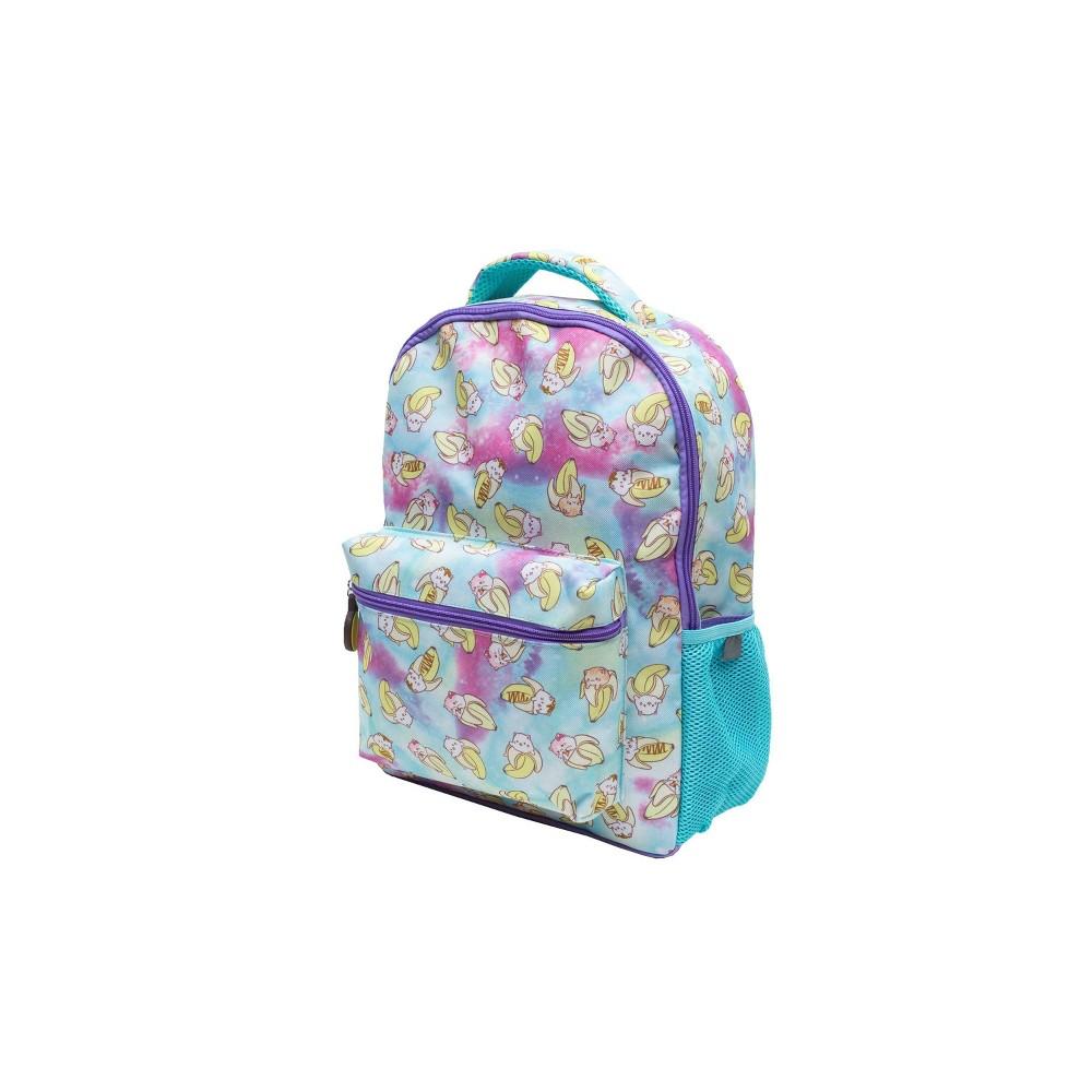 "Image of ""Crunchyroll Bananya 16"""" Kids' Backpack - Turquoise / Purple, Kids Unisex, Size: Small, MultiColored"""