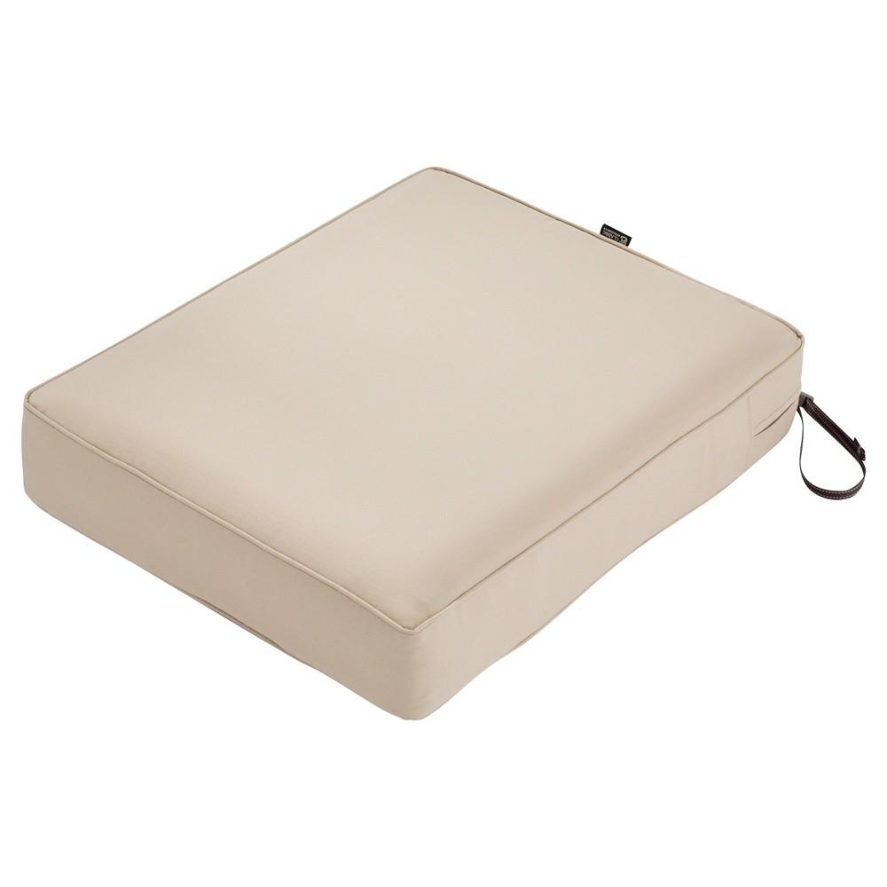 Montlake Fadesafe Rectangular Patio Lounge Seat Cushion Set - Antique Beige - Classic Accessories