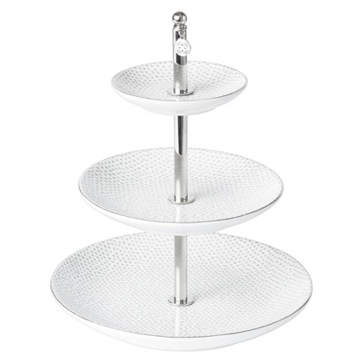 Tiered Jewelry Stand Medium Silver - West Emory™