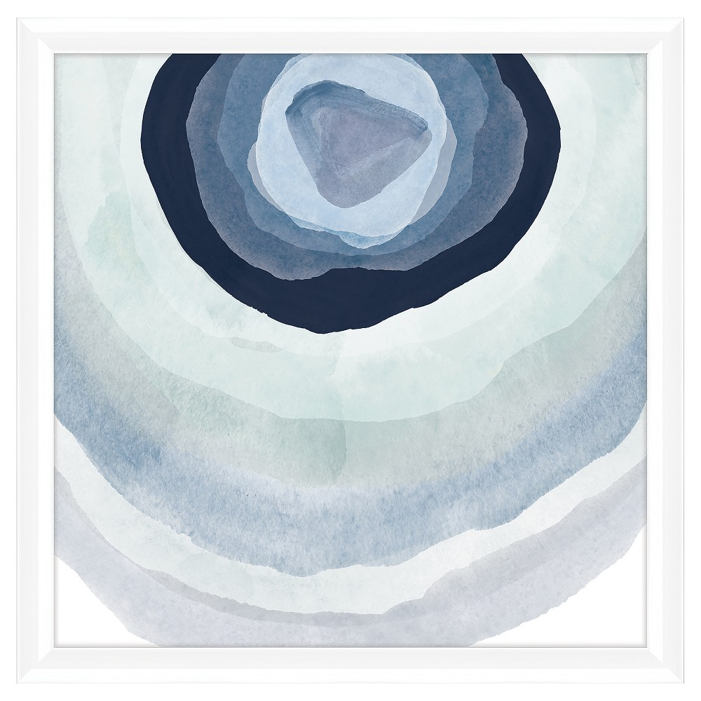 Add cool vibes to your space when you hang up the Outdoor Sky Wall Art from PTM Images. With a white frame and mat for ready-to-display ease, this sky print features watercolor circles in varying shades of blue and white for an abstract accent to complement your decor. Display anywhere from your kitchen to your guest bath to your entryway to instantly refresh the room. Pattern: Shapes.