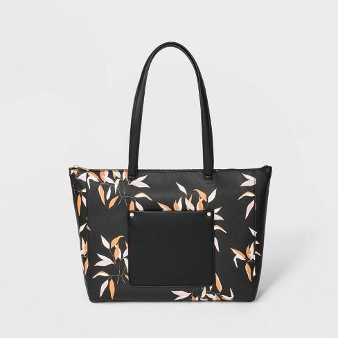 Zip Top Tote Handbag - A New Day™ - image 1 of 3