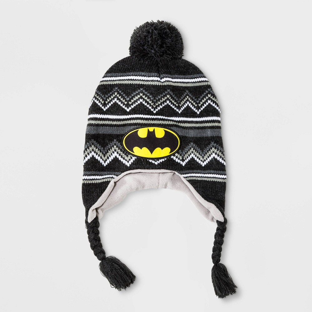 Image of Boys' Batman Stripe Beanie - Black One Size, Boy's, Gray