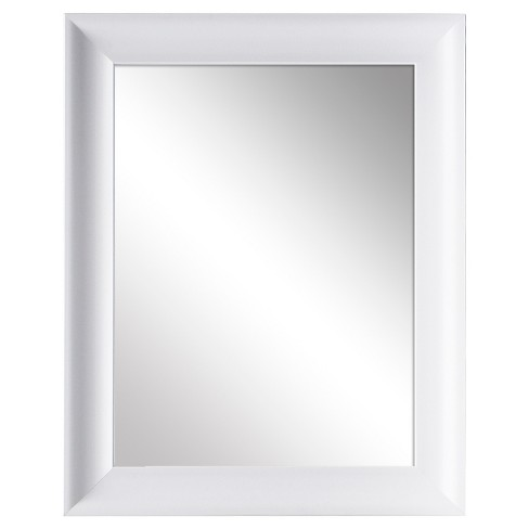 Rectangle Decorative Wall Mirror White Room Essentials