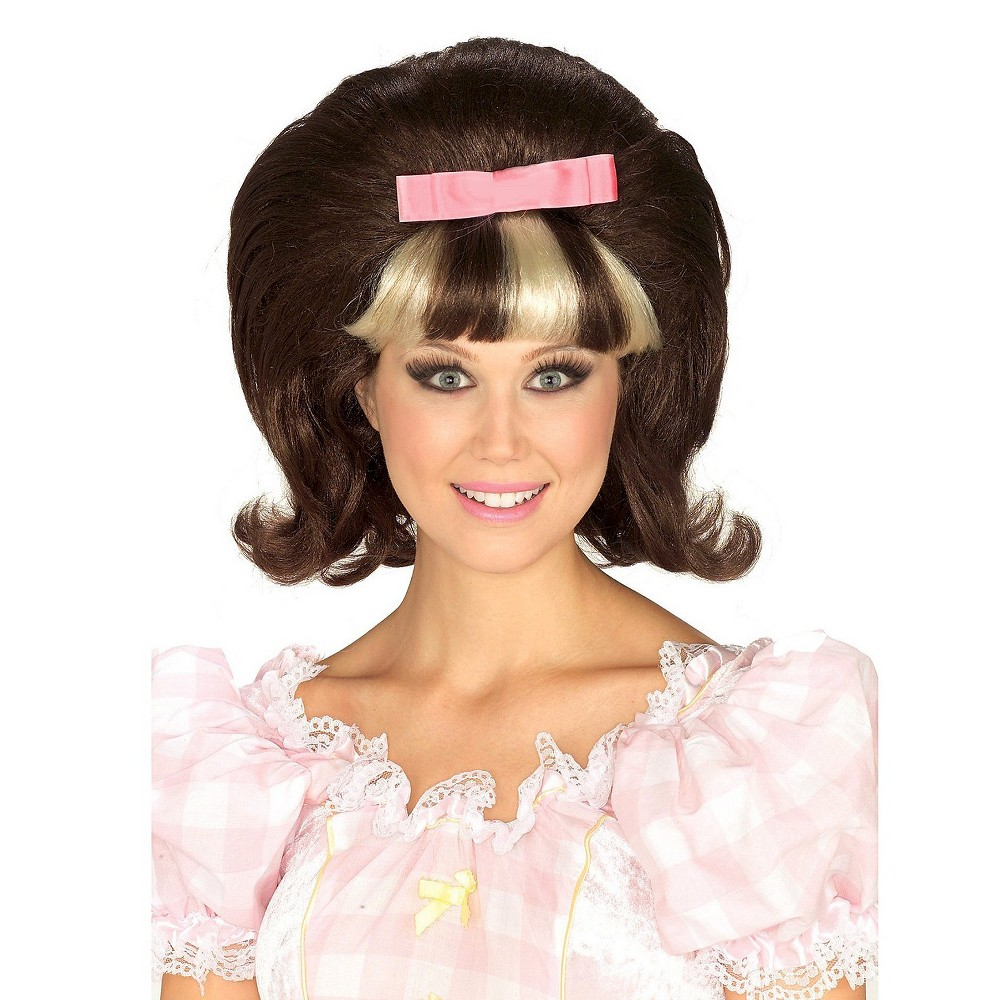 Halloween Women's 60's Princess Costume Wig Brown