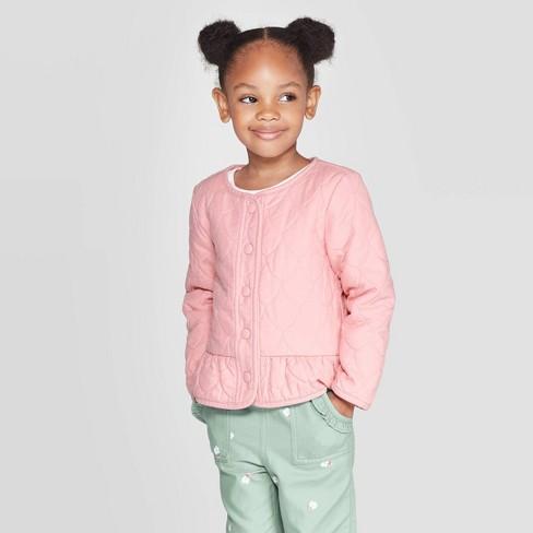OshKosh B'gosh Toddler Girls' Fashion Jacket - Pink - image 1 of 3